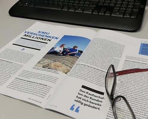 """Artikel """"KMU verschenken Millionen"""" in dieWirtschaft"""