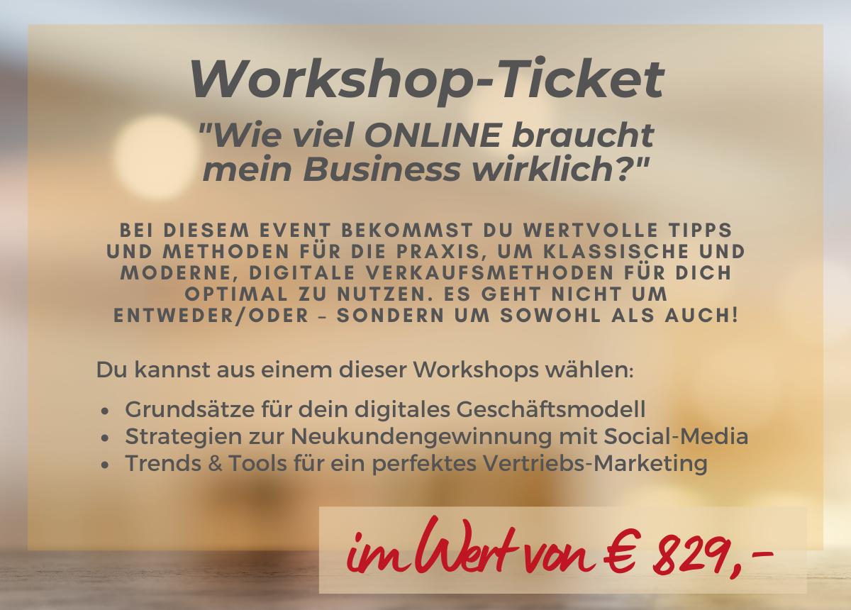 Workshopticket für jeden Einreicher
