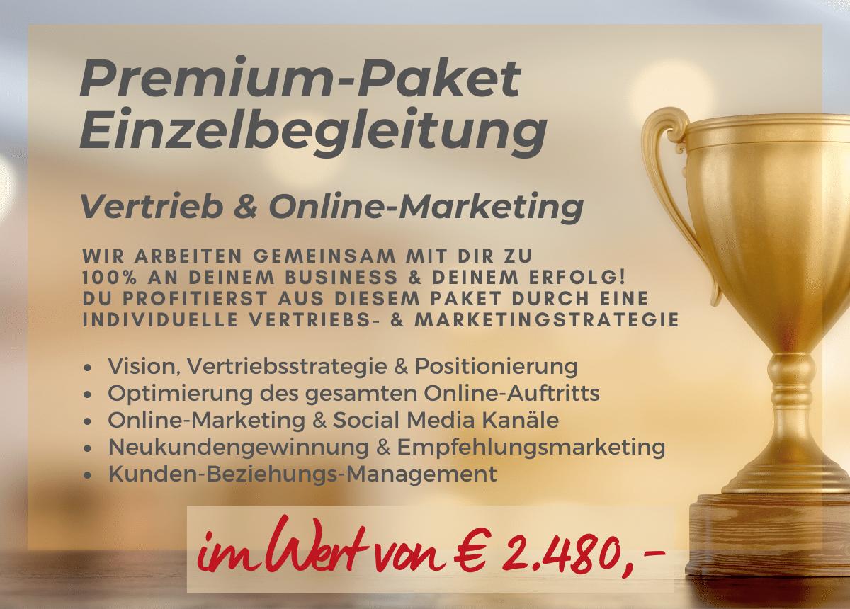 Premium-Paket Einzelbegleitung für den Award-Gewinner